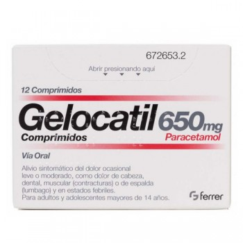 Gelocatil 650 Mg 12...