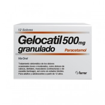 Gelocatil 500 Mg 12 Sobres...